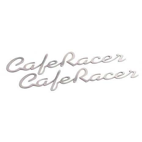 Cafe Racer dekal aluminium 16cm. 2st
