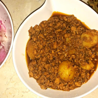 Keema with New Potatoes