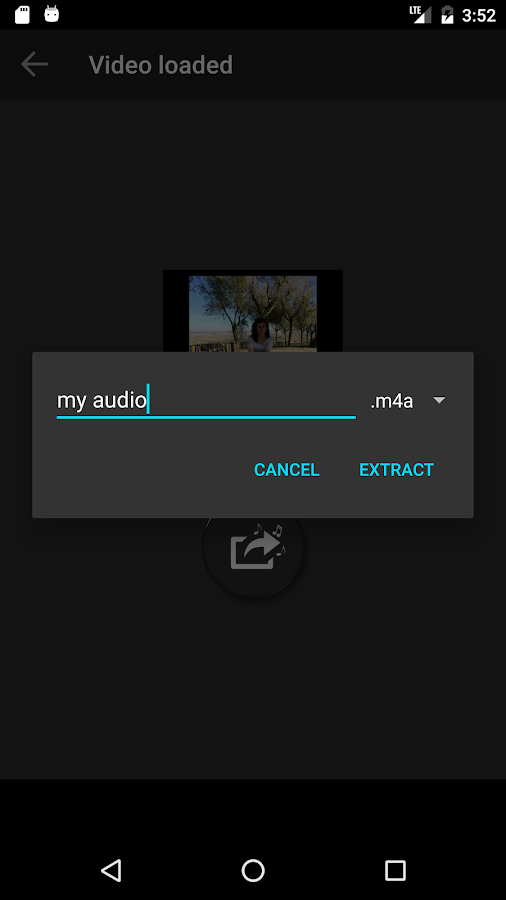 Extract Audio from Video- screenshot