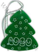 Photo: Игрушка на елку - корпоративный подарок. Цветной акрил. Логотип и снежинки вырезаны лазером с последующей затиркой краской
