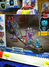 Photo: Ahhh.....but ultimately THIS was the big winner!  That lucky little boy came home with the MU Roll-A-Scare Toxic Race Playset, along with the extra MU Roll-a-Scare Monsters!  LUCKY!