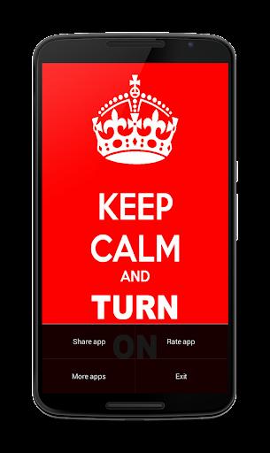 Keep Calm light linterna. 1.0.4 screenshots 6