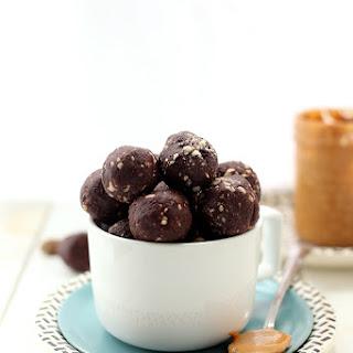 Crunchy Peanut Butter Chocolate Energy Balls.