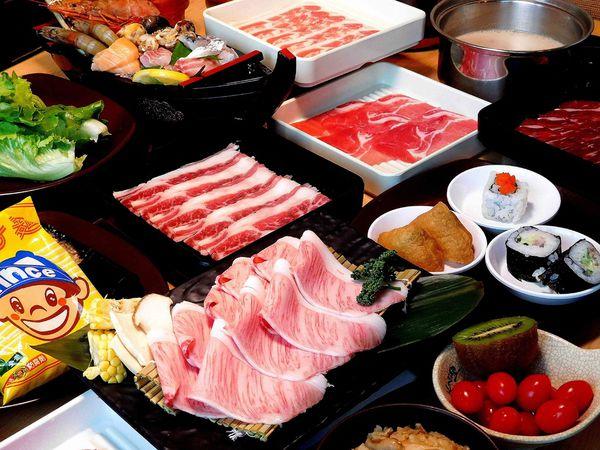 微風南山338起吃到飽全攻略!!buffet和牛與壽司,SHABUSATO涮鍋里和牛吃到飽