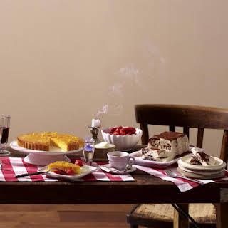 Polenta and Ricotta Cake with Lemon Caramel.