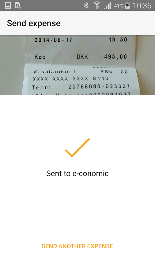 e-conomic - expenses- screenshot