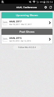 AAAL Conferences- screenshot thumbnail