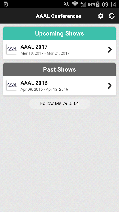 AAAL Conferences- screenshot