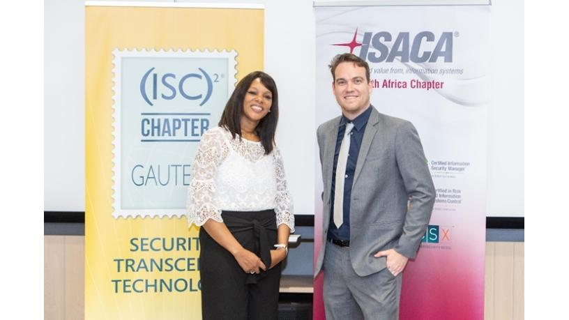 Arlene-Lynn Volmink (President: ISACA SA Chapter) and Terence Fogarty (President: (ISC)2).