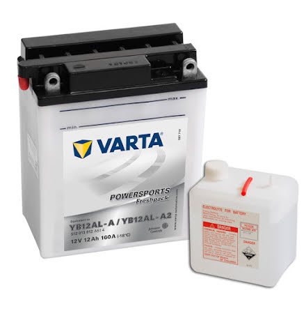 MC-batteri 12Ah Varta YB12AL-A ,YB12AL-A2