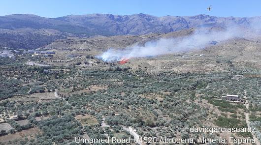 Otra intervención en la provincia: Infoca lucha contra el fuego en Abrucena