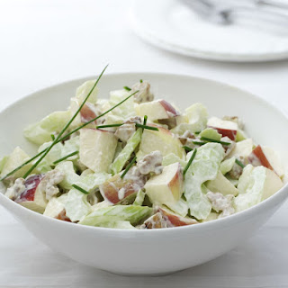 Waldorf Salad- loaded with apples, grapes, celery, dried cranberries,  walnuts,