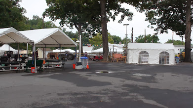 Photo: MCW Fair setup (right) across from Blacksmith Area