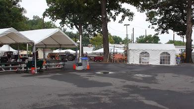 Photo: MCW Fair setup (right) across from Blacksmith Area
