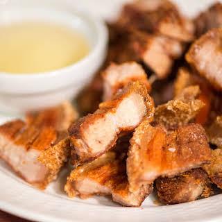 Lechon Kawali (Filipino Crispy Fried Pork Belly).