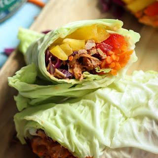 Chili Lime Tuna Napa Cabbage Wraps with Cashew Curry Sauce Recipe