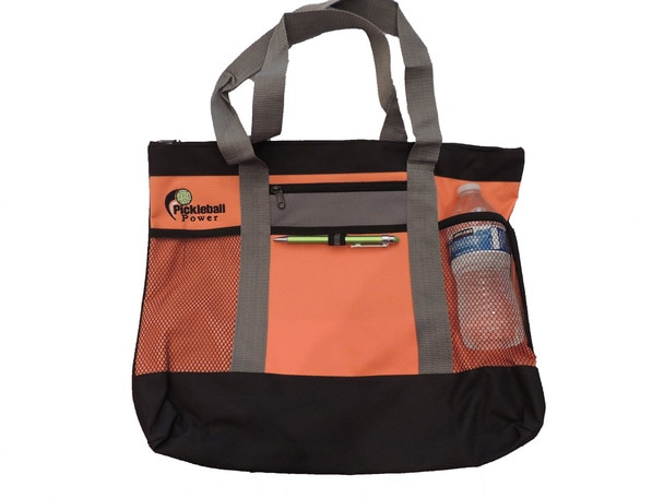 This Zipper Top, multi-purpose tote is perfect for work, travel, leisure and especially PICKLEBALL!
