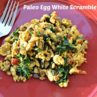 Paleo Breakfast Egg White Scramble.