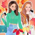 Autumn fashion game for girls icon