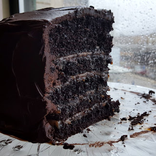 Salted Caramel Six Layer Chocolate Cake Recipe