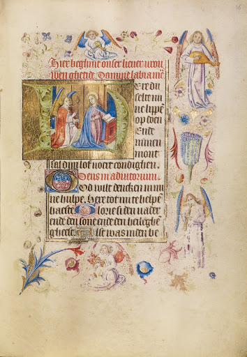 Initial H: The Annunciation