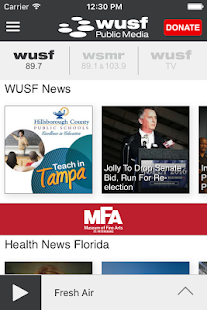 WUSF Public Media App- screenshot thumbnail