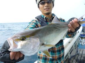"Photo: 初乗船の""ハラダさん""、ネリゴキャッチ!"