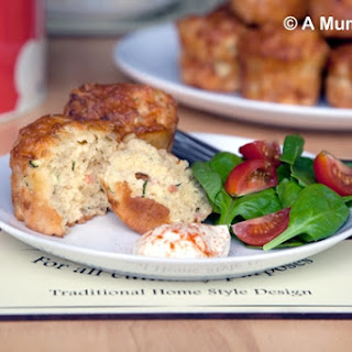 Savoury Courgette & Cheese Muffins.