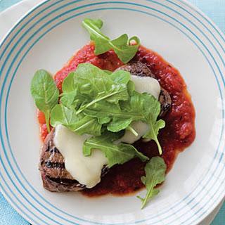 Warm Steak Salad with Marinara Sauce.