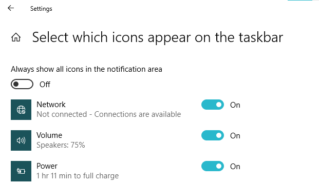 check if network icon is enabled or not
