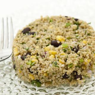 Quinoa and Black Bean Salad with Corn and Cilantro.