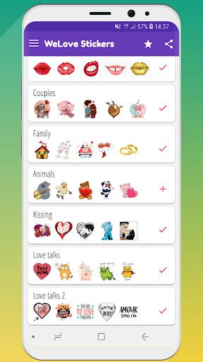 ? WeLove : love stickers (WAStickerApps) 2.2 screenshots 6