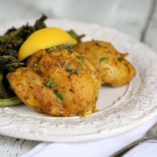 Baked Turmeric Chicken Thighs.