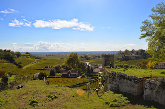 Photo: The view from the top of the village of Saint Emilion