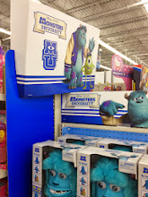 Photo: Oooh, great end cap of Monsters University toys. Love that the toys are available in a variety of price points.