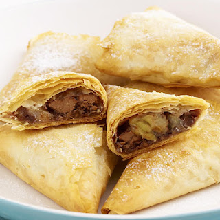 Banana, Chocolate and Pecan Turnovers.