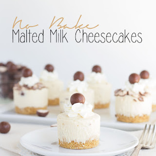 No Bake Malted Milk Cheesecakes