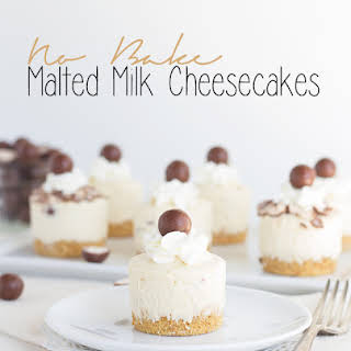 No Bake Malted Milk Cheesecakes.