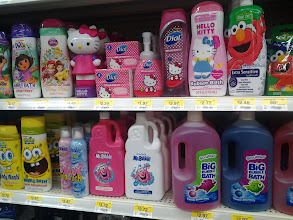 Photo: I also thought I would go along with the bathroom theme and buy something fun for their bath throughout the week since we were on vacation.