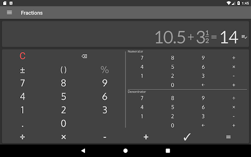 App Fractions Calculator - detailed solution available APK for Windows Phone
