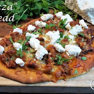 """""""Chorizza"""" Flatbread Pizza."""