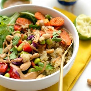 Healthy Thai Coconut Quinoa Bowls