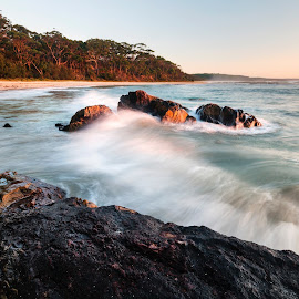 The Wave by Geoffrey Wols - Landscapes Beaches ( bendalong, coast, seascape, waterscape, beach, morning,  )