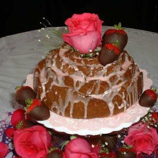 Strawberry Tequila Rose Bundt Cake.