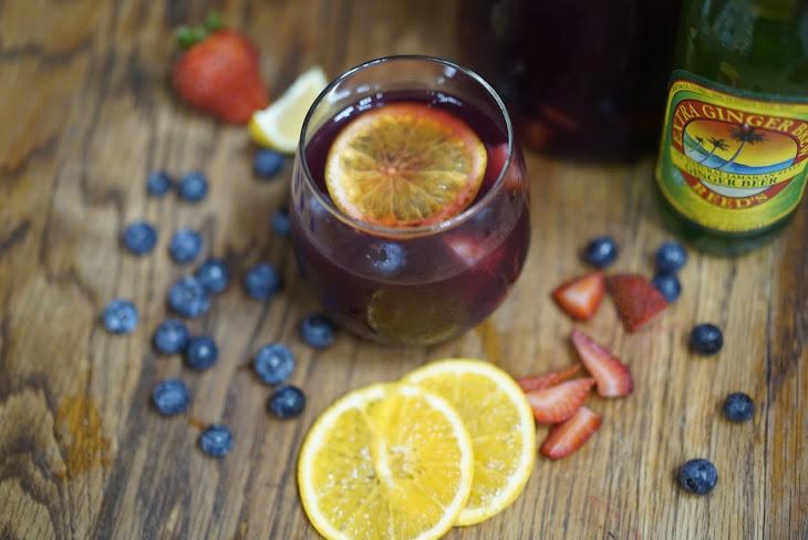 Mango-Berry Sangria Recipe
