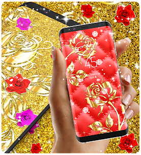Gold rose live wallpaper Apk Download For Android 2