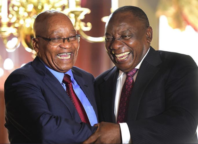 President Cyril Ramaphosa pictured here with Jacob Zuma.