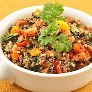 Rainbow Quinoa with Chorizo-Vegetable Medley.