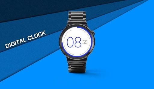 flat watch face & clock live wallpaper screenshot 1