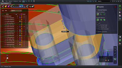 Photo: Make quick geometry changes with the MSC Apex Direct Modeling tools.